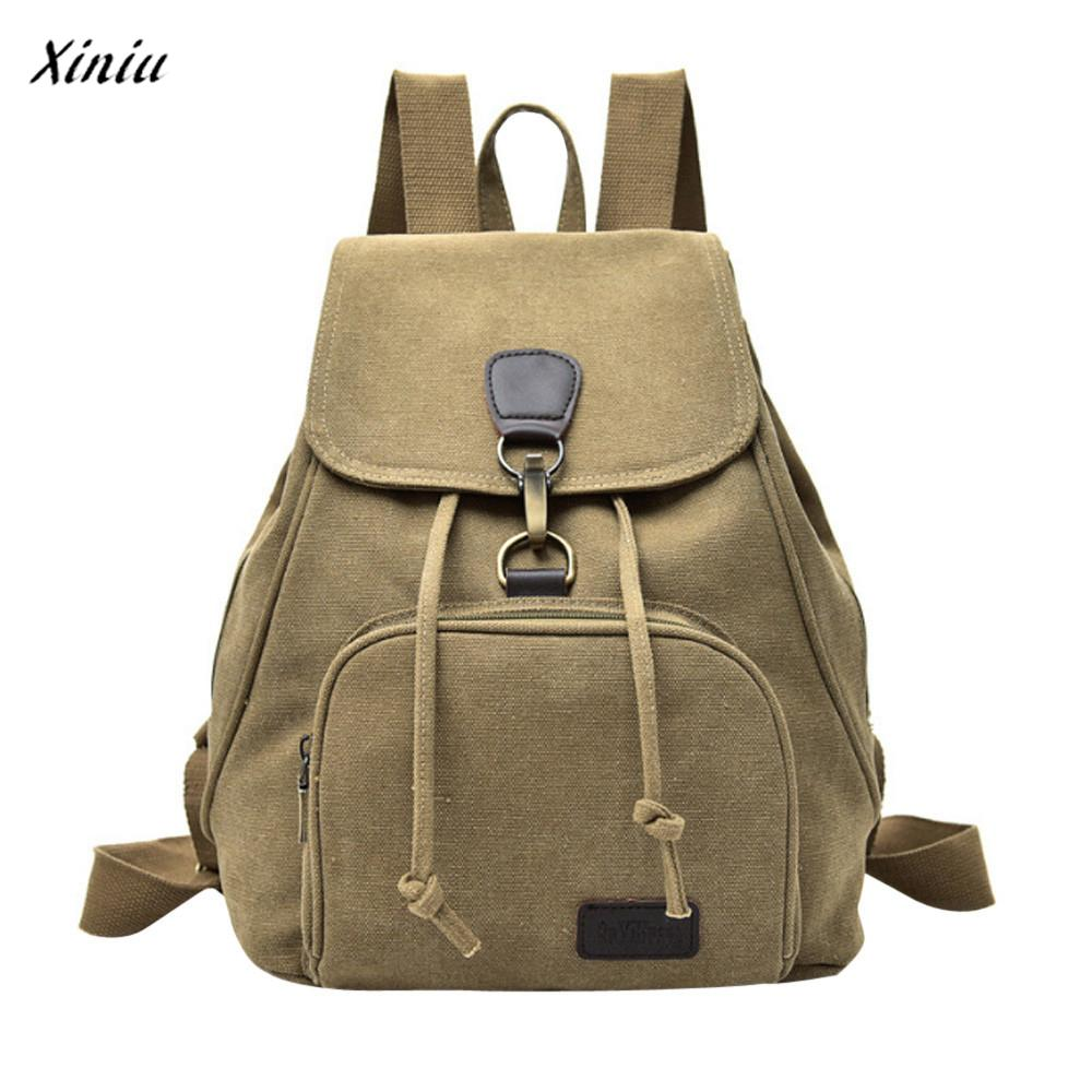 xiniu Women canvas backpack school Lady girl travel student school laptop bag Backpacks Womens bags for women 2017