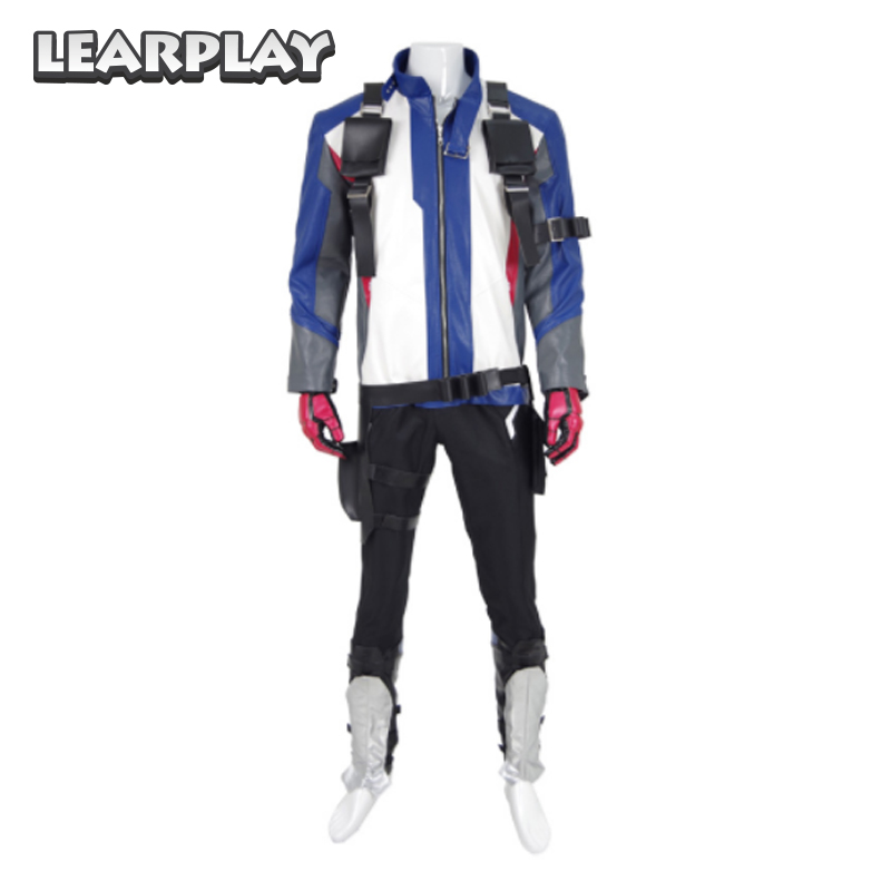 OW Soldier: 76 Cosplay Costume Full Set Outfit