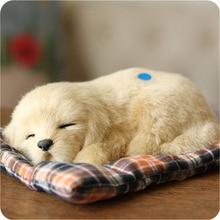 Perro de oro suave juguete kawaii animales de simulación muñecas artesanales juguetes de peluche pequeño perro para dormir para la decoración de los niños regalos creativos