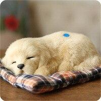 Soft Golden Dog Toy Kawaii Simulation Animals Craft Dolls Plush Toys Small Sleeping Dog For Children