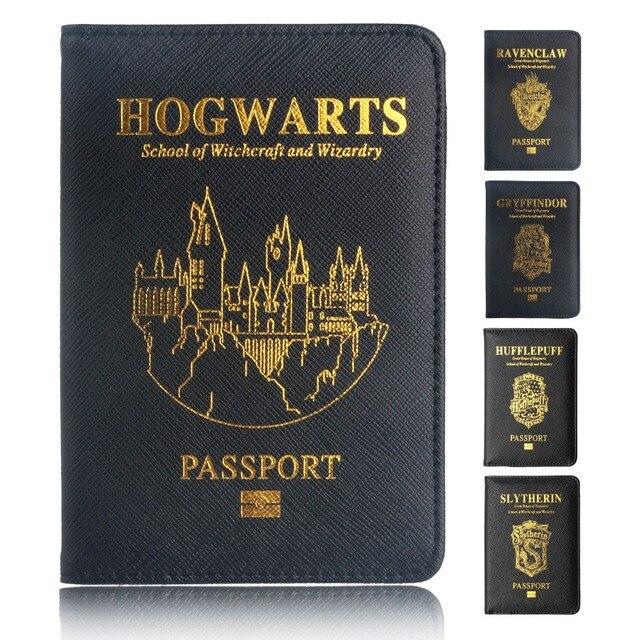 TRASSORY רב תכליתי Rfid חסימת הארי פוטר דרכון כיסוי עור הוגוורטס גריפינדור רייבנקלו דרכון בעל מקרה