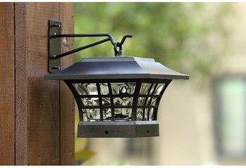 Solarlichtpfosten Im Freien | Europäischen Stil Garten Camping LED Solar Licht Im Freien Lichter Wand Leuchte LED Garten Licht Solar Post Kappe Lampen Montieren