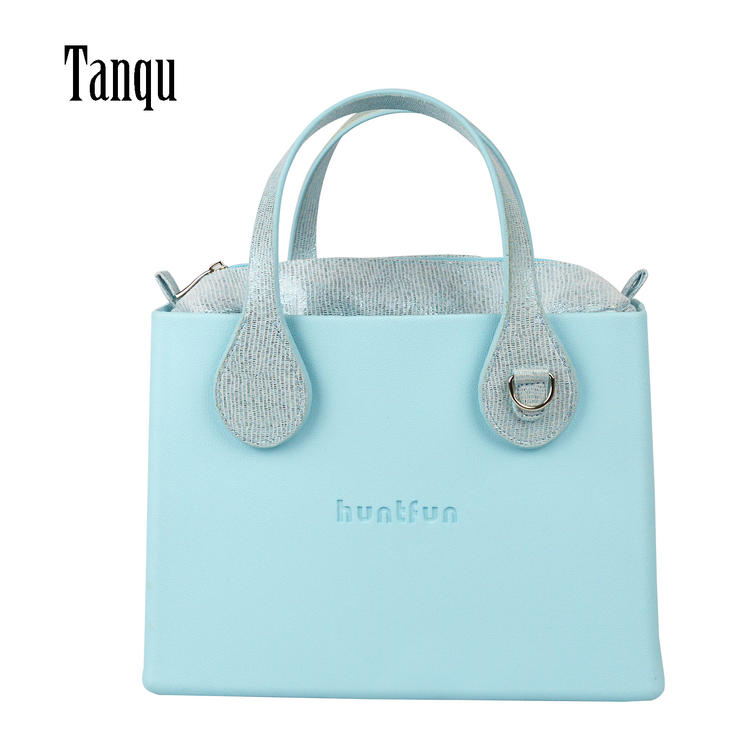 2019 New tanqu EVA square Bag with Gilding Insert flat Handles waterproof Obag style women O
