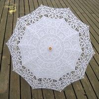 Новый модный кружевной зонтик от солнца с вышивкой, зонт для невесты, белый цвет слоновой кости, Свадебный зонтик Ombrelle Dentelle Parapluie Mariage