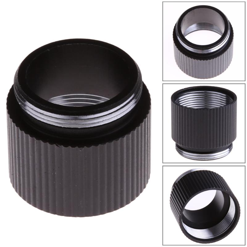 1pcs Black Rechargeable Extension Ring Tube Joint Adapter For Bright Flashlight 18650 Lithium Battery Lamp Holder Converter