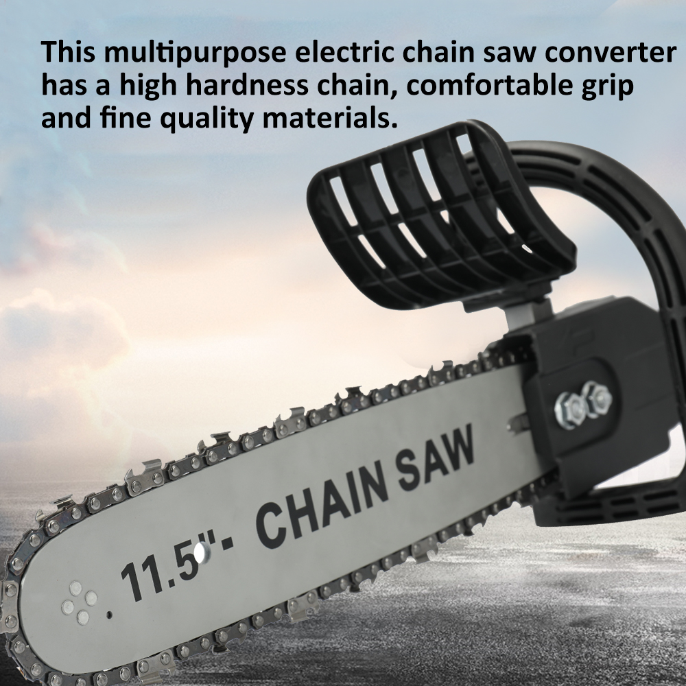11.5 inch Adjustable Electric chain saw DIY Angle grinder modified electric saw machine for Electric Angle Grinder To Chain Saw