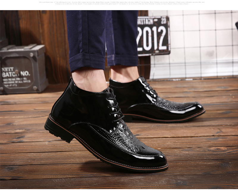 efd458a061b New rubber rain boots mens ankle boot sewing Fashion Men Leather Casual  Outdoor Short Shoes Badge Decorations black Boots