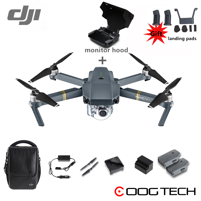 DJI Mavic Pro & Fly More Combo Quadcopter 4K HD Camera 3 Axis Gimbal 7 KM Recording Remote Control 12 Channels Camera Drones