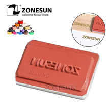 ZONESUN DIY Hot Foil Silicone Mould Embossing Plate Custom Brand Logo For Plastic Wood Sunglasses Heat Stamping