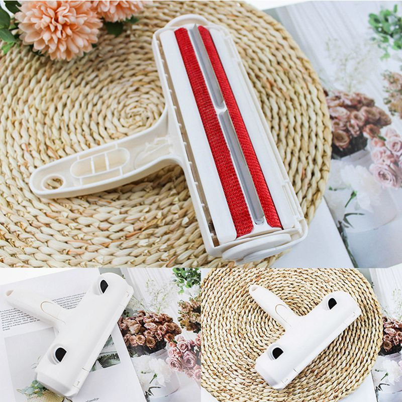 2-Way Pet Hair Remover Roller Removing Dog Cat Hair From Furniture Carpets Bedding Clothing One Hand Operate