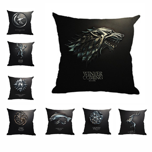 Game of Thrones Family Clan Insignia Decorative Pillow Case