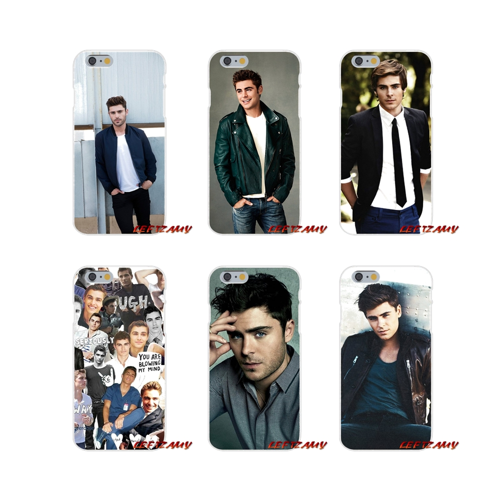Accessories Phone Cases Covers Zac Efron For iPhone X XR XS MAX 4 4S 5 5S 5C SE 6 6S 7 8 Plus