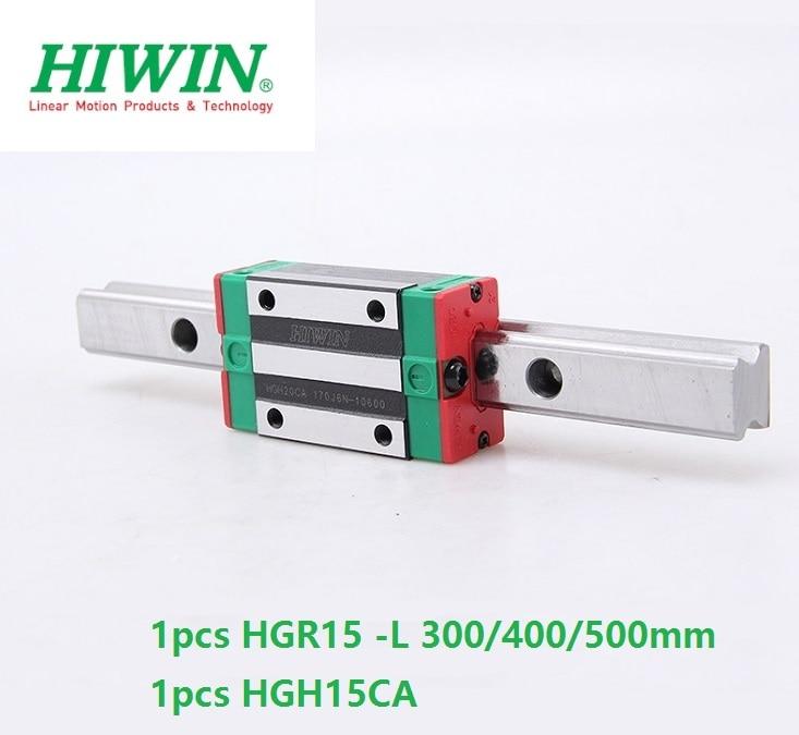1 個台湾オリジナル hiwin リニアレールガイド HGR15 L 300 ミリメートル 400 ミリメートル 500 ミリメートル + 1 個 HGH15CA または HGW15CA (HGW15CC) ブロックキャリッジ  グループ上の 家のリフォーム からの リニアガイド の中 1