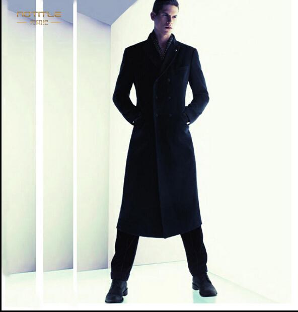 Hot men marca modelos de casaco de trincheira dos homens de inglaterra longo casaco de lã de lã casacos trajes jaqueta