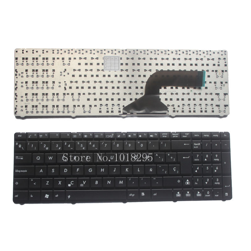 все цены на Spain Keyboard for Asus X53 X54H k53 A53 N53 N60 N61 N71 N73S N73J P52 P52F P53S X53S A52J X55V X54HR X54HY N53T SP Laptop Black онлайн