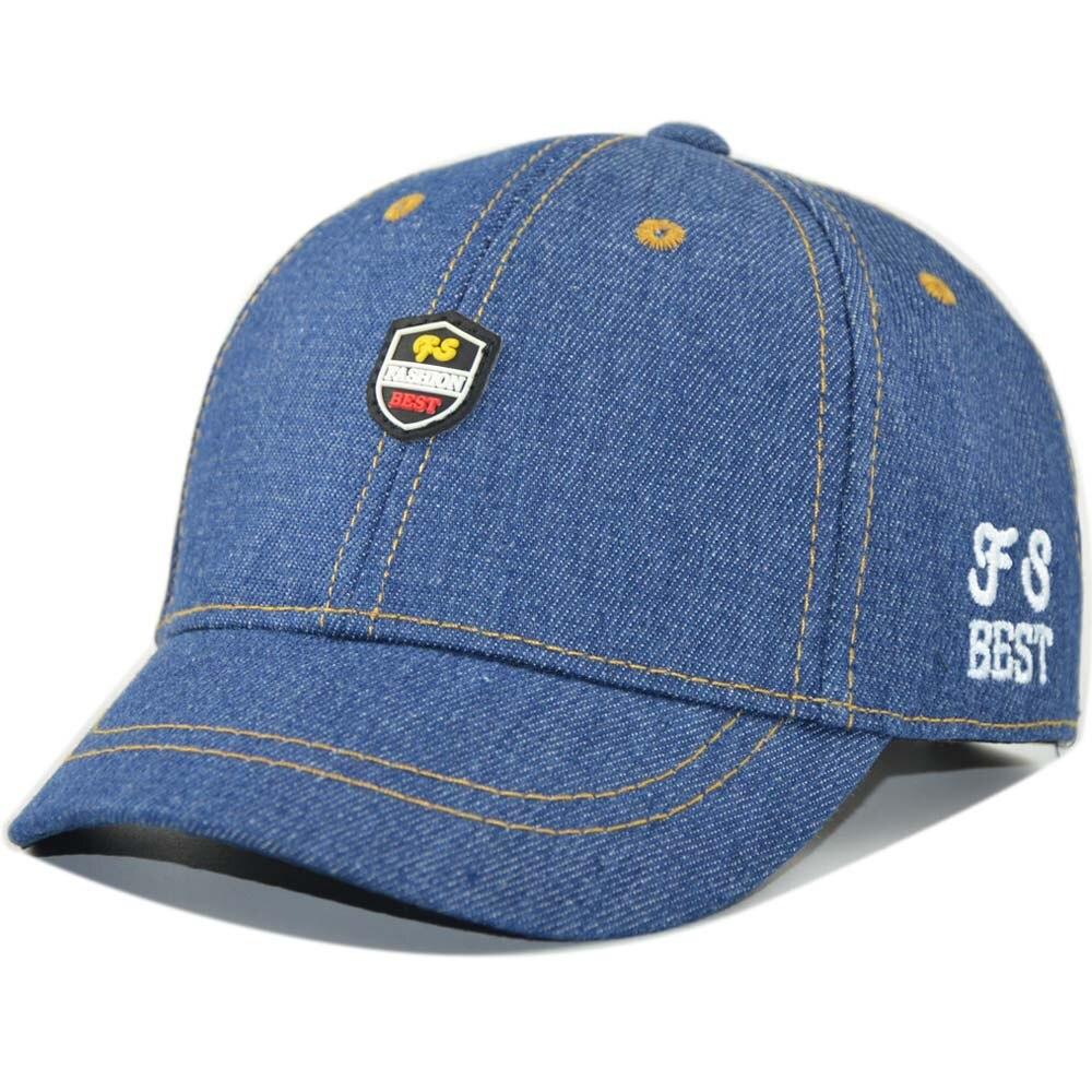 66c9ef3ae8e Cool Denim Baseball Cap for Child Baby Boy girl Summer Sun Cap Snapback  with Adjustable Velcro