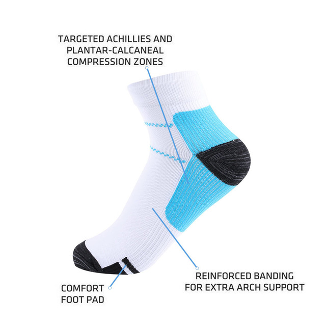 1 Pair High Quality Foot Compression Socks For Plantar Fasciitis Heel Spurs Arch Pain Comfortable Socks Venous New Socks 5