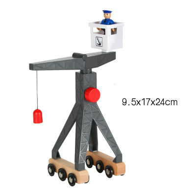 Thomas and Friends-Plastic Move Crane Thomas Wooden Train Track Railway Accessories Move Crane Tender Educational Slot DIY