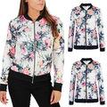 Женская мода Дамы Повседневная Куртка Slim Пальто Урожай Цветочные Костюм Пиджаки