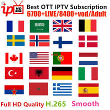 Gator 6700+Channels IPTV Subscription French Portugal Belgium Italia Arabic Latin Adult M3U Smart Android TV box Mag Code IPTV(China)