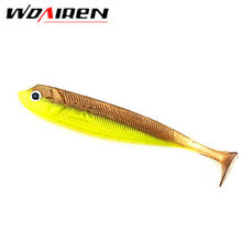3 Pcs/lot 7.5g 10cm Handmade Soft Bait Fish Fishing Lure Shad Manual Silicone Bass Minnow Bait Swimbaits Plastic Lure Pasca