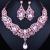 9 cores escolha, venda quente jóias africano definir checa rhinestone choker de cristal colar brincos conjuntos de jóias de noiva para o casamento