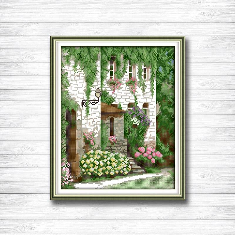 Европейский церковь пейзажа молиться живопись 14ct 11ct Счетный крест комплекты Набор для вышивания Рукоделие Набор китайский вышивка крестиком