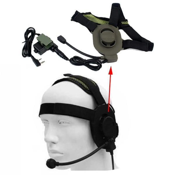 Ear protector earmuffs throat microphone military police bowman ear protector earmuffs throat microphone military police bowman elite ii headset for walkie talkie uv 5rtg uv2 kg uvd1p bf f8 in walkie talkie from publicscrutiny
