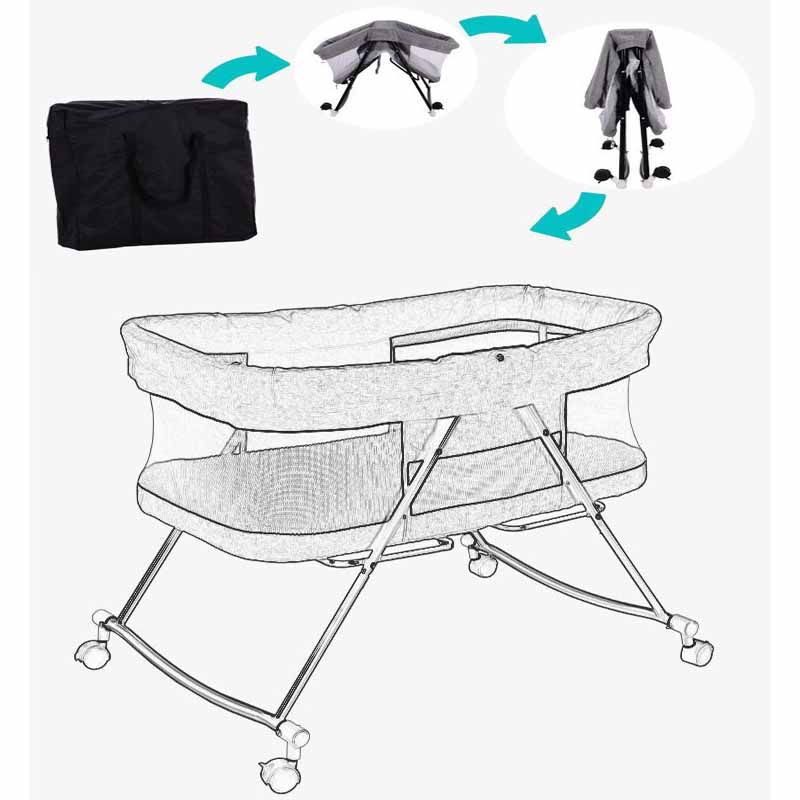 Portable Baby Crib Nursery Travel Folding Baby Bed Bag Infant Toddler Cradle Multifunction Baby Play Bed Baby Nest