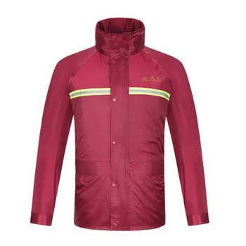 New raincoat rain pants suit waterproof motorcycle rain jacket poncho table size Large Size fishing suit rainwear man and woman