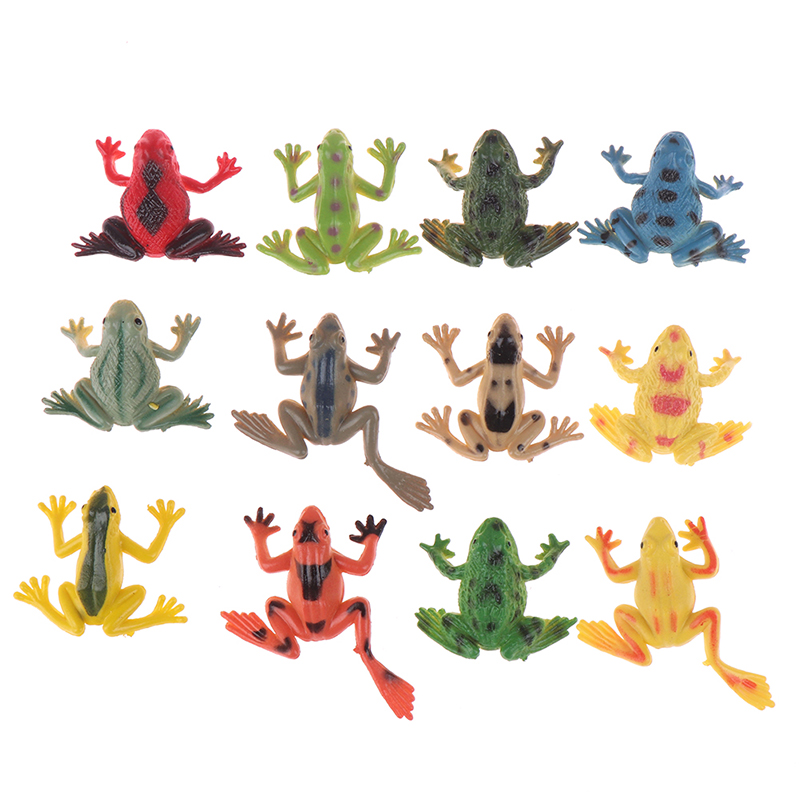Toy Figures Frogs-Model Learning-Education-Toys Action for Children Gift Wholesale 12pcs/Lot