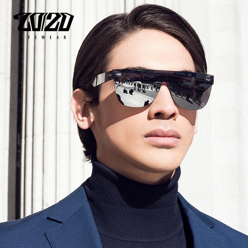 20/20 חדש לגמרי משקפי שמש גברים נסיעות נהיגה מראה שטוח עדשה ללא שפה נשים שמש משקפיים משקפי Oculos Gafas