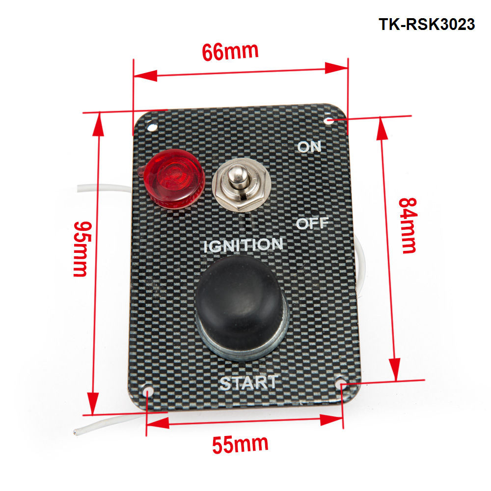 Racing Switch Ki Car Electronics/Switch Panels-Flip-up Start/Ignition/Accessory For Ford Mustang 05-10 V8 TK-RSK3023