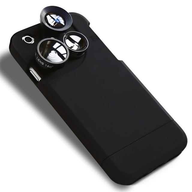 2016 Lente Del Teléfono Móvil Smartphone Cámara de Ojo de Pez Lente Gran Aumento Focal longitud macro 3 en 1 para iphone 5 5s 6 6 s 6 p 6sp