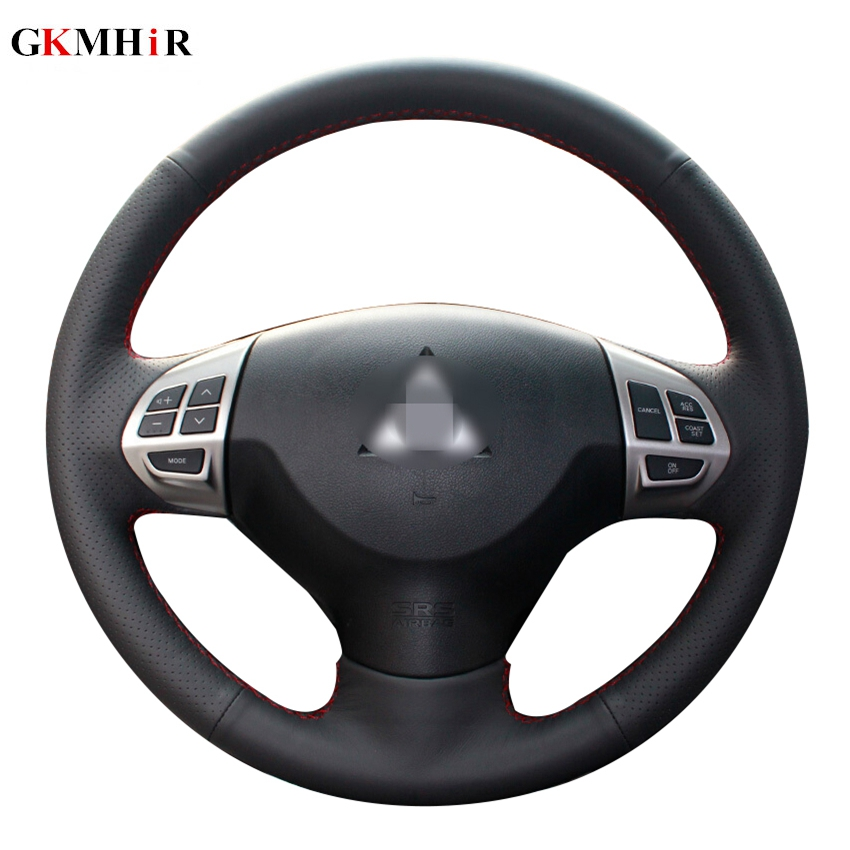 Steering Wheel Cover XtremeAuto/® BLACK LEATHER LOOK