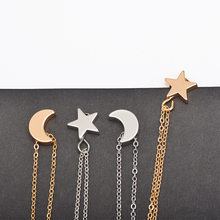 Tenande Simple Style Double Layer Gold Color Star Moon Necklaces & Pendants for Women Ocean Jewelry Femme Bijuter Collier(China)