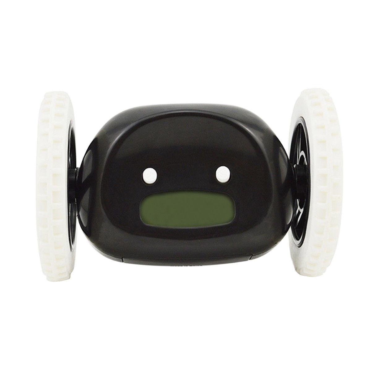 HOT-Fugitivo Correndo Sobre Rodas Em Movimento Perseguir o Alarme Digital LCD Relógio Despertador