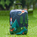 Mytrip Polyester Suitcase Covers Forest&Bonfire Cartoon Luggage Cover Apply to 20-28inch Cases,Travel Accessories