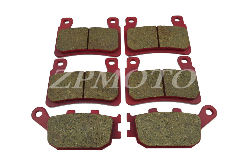 Front+Rear CB400 VTEC 2003-2008 CARBON CERAMIC ROAD BRAKE PADS High-Quality motorcycle brake pads ceramic composite for triumph 800 tiger 2011 2014 front rear oem new high quality zpmoto