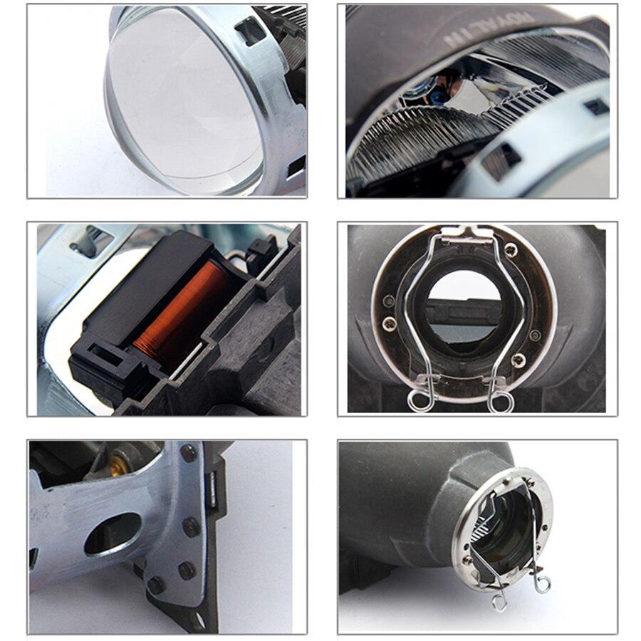 ROYALIN Voiture Q5 Phares Halogène Lentille Bixenon H7 Métal Projecteur 12 v LHD RHD pour Automobiles D2S D2R Externe Lampes rénovation - 4