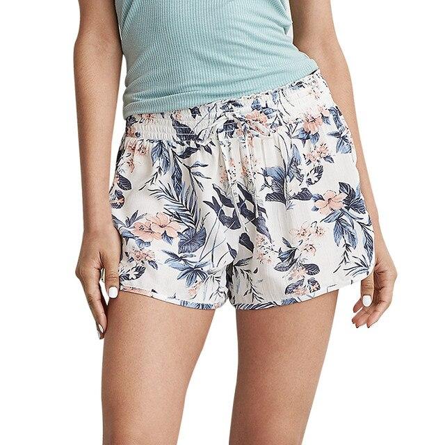 342cf0b62fd5 Fashion shorts Women pants Sexy Hot sale Summer Casual Shorts High Waist  Drawstring Print Short Pants 5