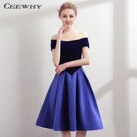 CEEWHY Special Occasion Dresses Short Prom Dresses 2018 Blue Cocktail Dresses Summer Vestidos de Coctel Graduation Dresses