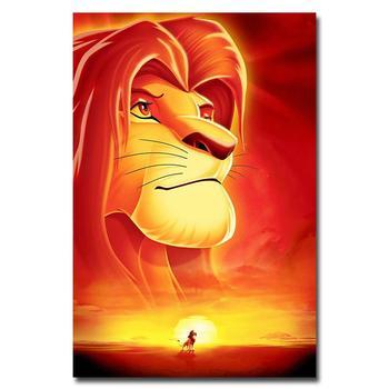Плакат Гобелен Шелковый Король лев в ассортименте