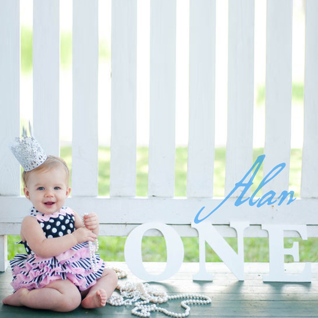 Toddler Photo Prop Wooden Number 1 Second Birthday One Or 1 Age