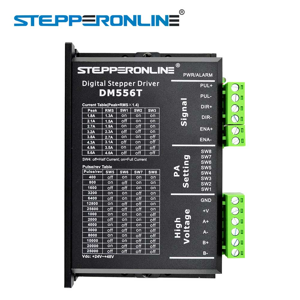 Digital Stepper Driver 1.8~5.6A 20-50VDC For Nema 23, 24, 34 Stepper Motor digital stepper driver 1 8 5 6a 20 50vdc for nema 23 24 34 stepper motor