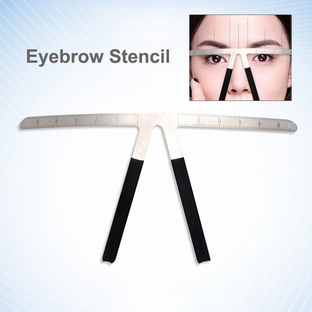 Microblading Tools Eyebrow Ruler Stencil Permanent Makeup Accesories Supplies Golden Ratio Microblade 3D Eyebrow Measuring Tools