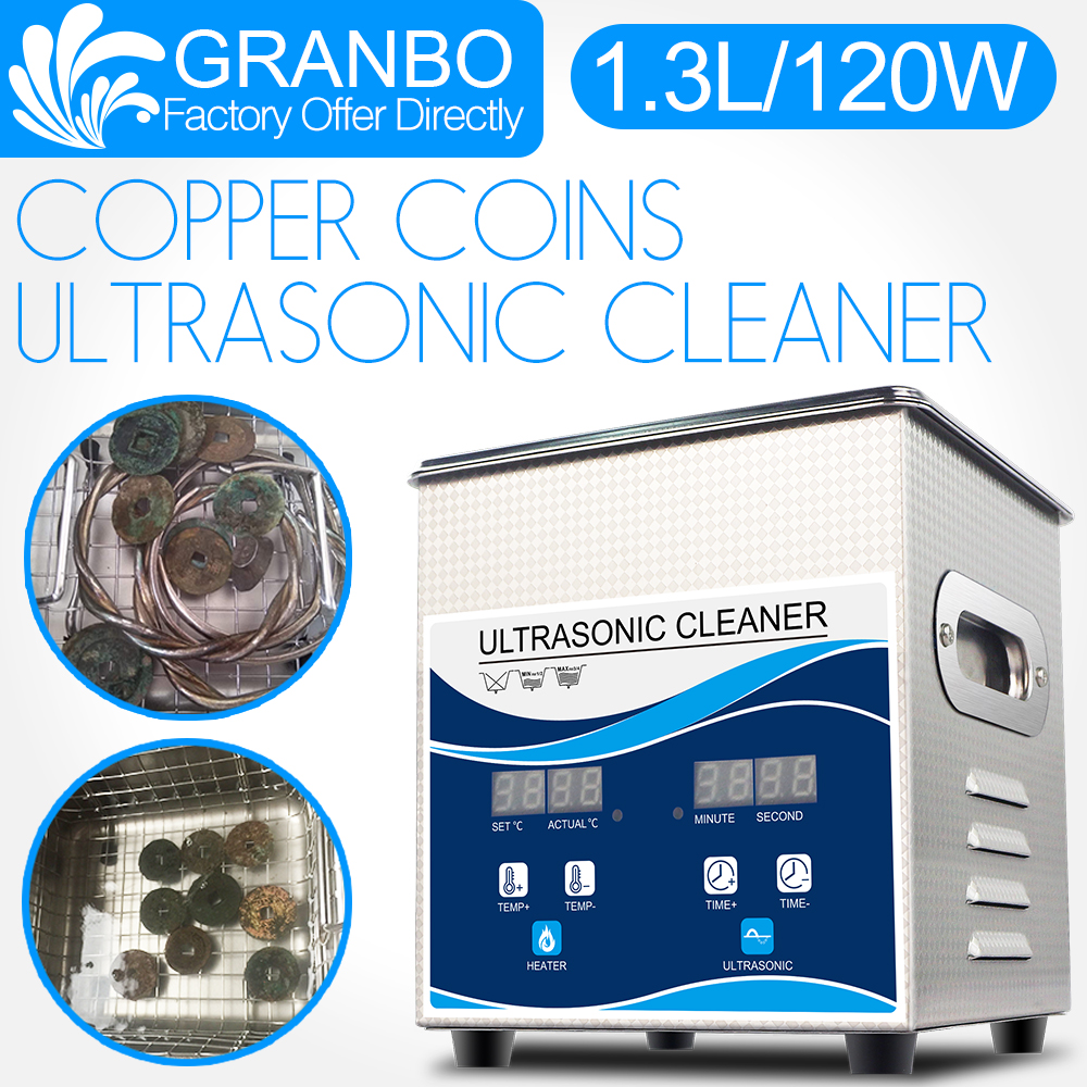 Granbo Ultrasonic Coin Cleaner 1.3L 120W Cleaning Machine For Copper Coins  Old Coins Roman Coins Commemorative Coin Gold Coins
