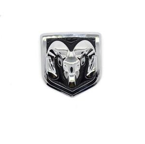 Image 5 - 3D Auto Head Grill Achterklep 3D Stickers Metalen Embleem Inbouwen Metal Chrome Badge Emblem Sticker Ram hoofd Voor Dodge Ram kaliber