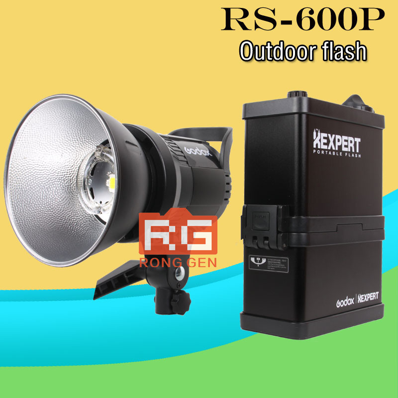 GODOX RS-600P 600W XEnergizer Wireless Portable Flash Studio Light Lighting Kit godox es 600p 600w gn68 xenergizer wireless portable flash studio light lighting kit