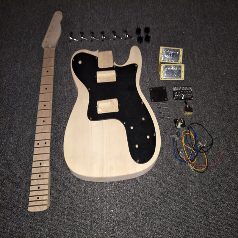 DIY Electric Guitar TL Kit Vintage Style With Alder Body And Maple Neck Fingerboard Luthier Builder Kits  недорого
